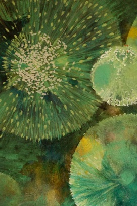 Seeds or Stars III (Detail): Oil on Canvas: 60cm x 1.5m
