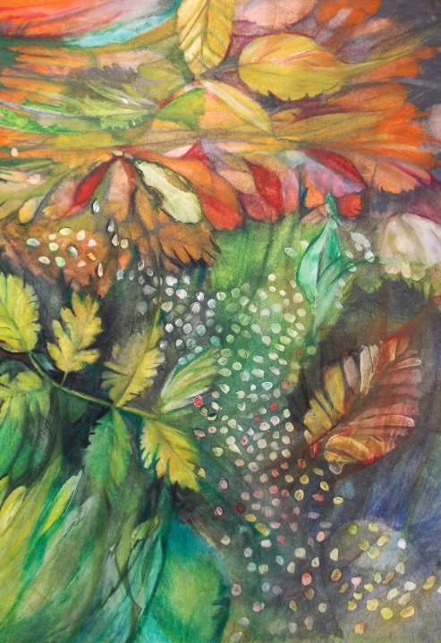 Early Autumn Study Mixed Media on Paper by Jana Siebers 2018